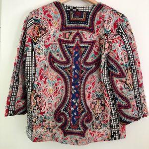 Zara Jackets & Coats - Zara Multicolor Embroidered Jacket with Beading